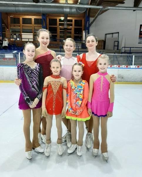 Valeria, Coralie, Leonie, Emma, Julia, Anastasia und Alina in Bad Aibling